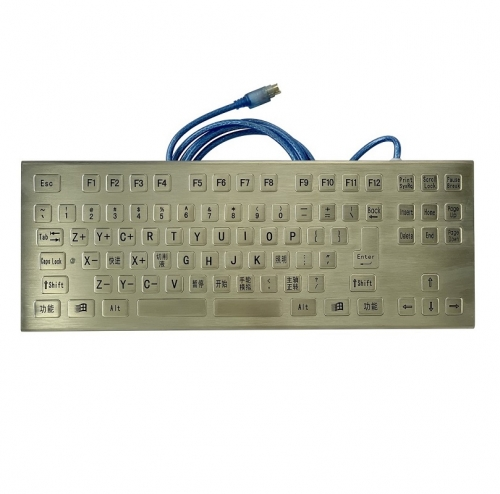 IP66 waterproof stainless steel desktop keyboard