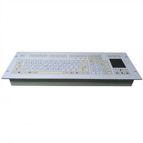 IP66 waterproof panel mounted membrane keyboard with integrated touchpad mouse