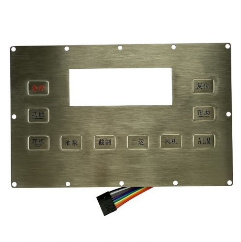 IP66 waterproof panel mounted stainless steel keypad