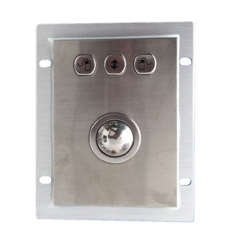 IP66 waterproof stainless steel trackball in panel mounted solution