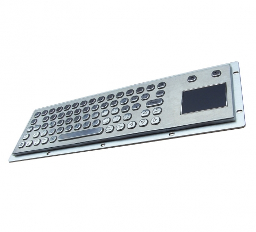 IP66 waterproof stainless steel keyboard with integrated touchpad mouse