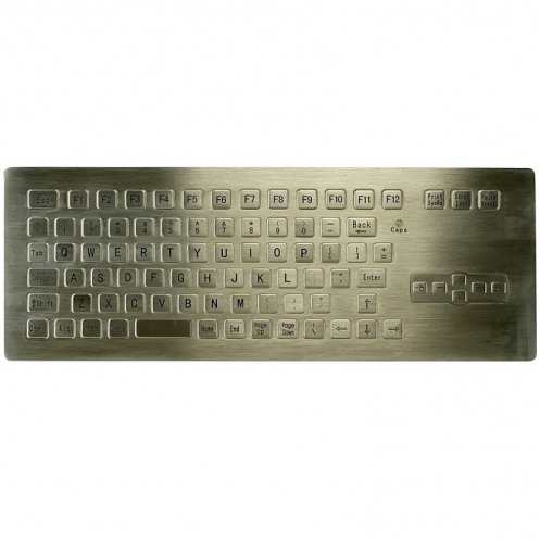 IP66 waterproof stainless steel panel mounted keyboard with mouse direction keys