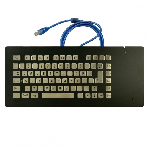 IP66 waterproof black eletroplated stainless steel panel mounted keyboard