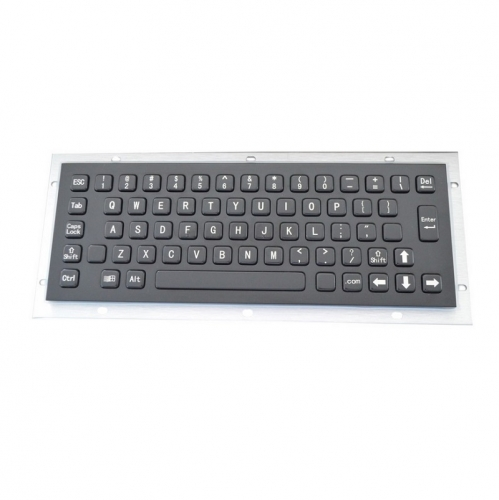 IP65 waterproof black electroplated stainless steel keyboard