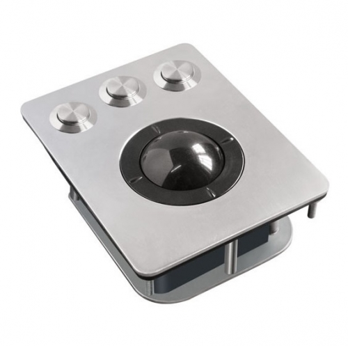 IP66 stainless steel panel mounted trackball