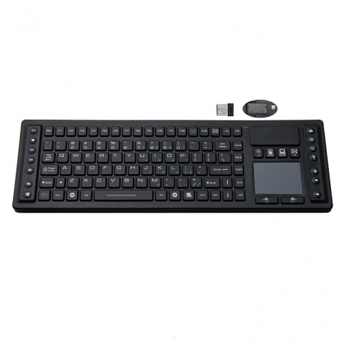 IP65 waterproof wireless silicone keyboard with integrated touchpad mouse