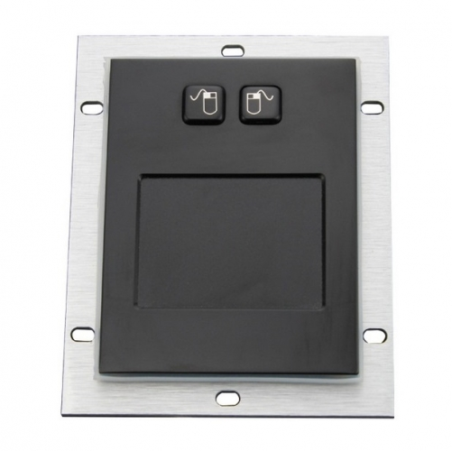 IP65 waterproof black electroplated stainless steel rugged touchpad