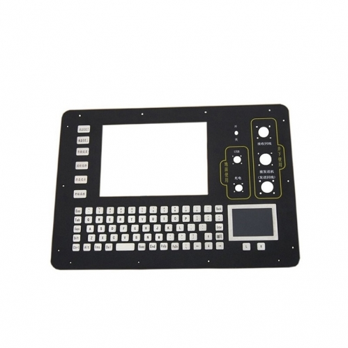 IP66 waterproof stainless steel panel mounted keyboard with integrated touchpad