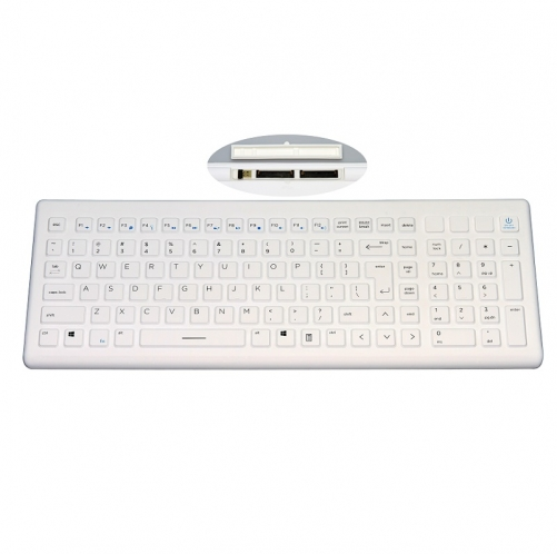 IP65 waterproof wireless rugged silicone keyboard