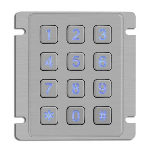IP65 waterproof stainless steel backlit keypad
