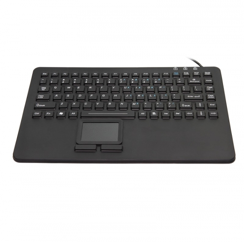 IP68 waterproof silicone keyboard with integrated touchpad mouse