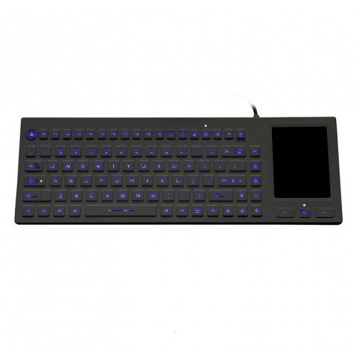 IP68 waterproof backlight silicone keyboard with integrated touchpad mouse