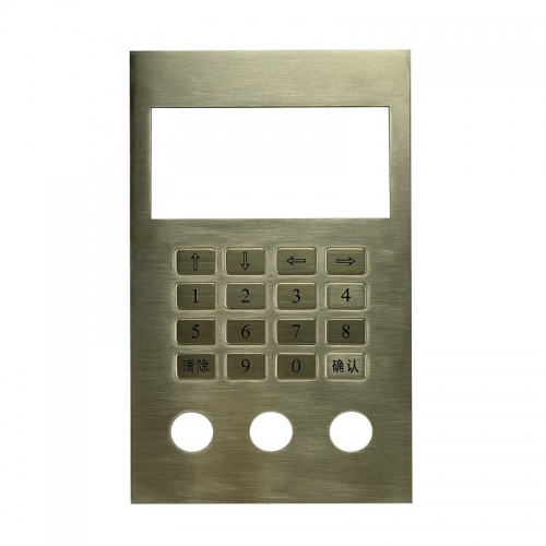IP66 stainless steel panel mounted parking lot keypad