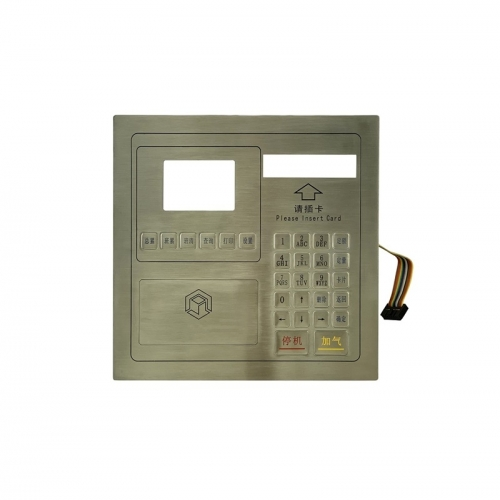 IP66 waterproof stainless steel panel mounted keypad with LCD screen