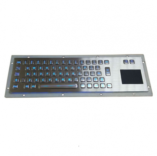 IP65 waterproof stainless steel backlight keyboard with integrated touchpad mouse