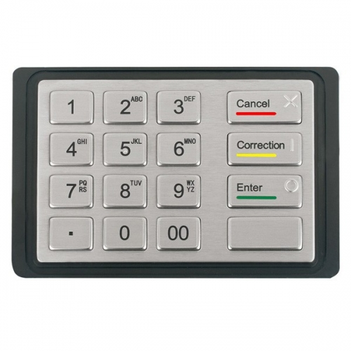 IP65 waterproof stainless steel desktop keypad