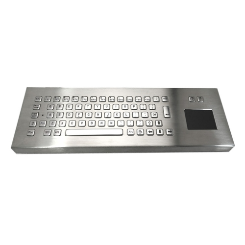 IP65 waterproof stainless steel desktop keyboard with integrated touchpad mouse